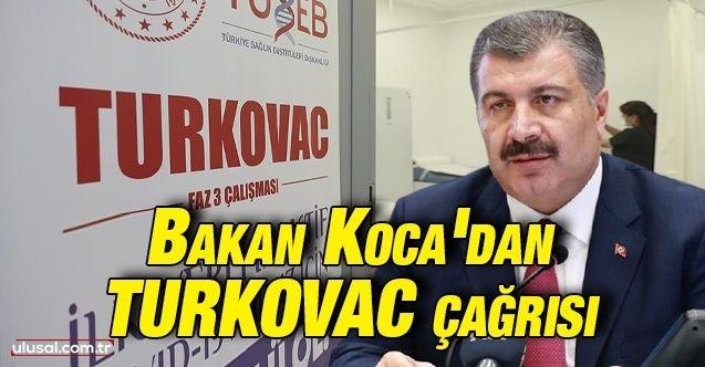 Fahrettin Koca'dan TURKOVAC çağrısı