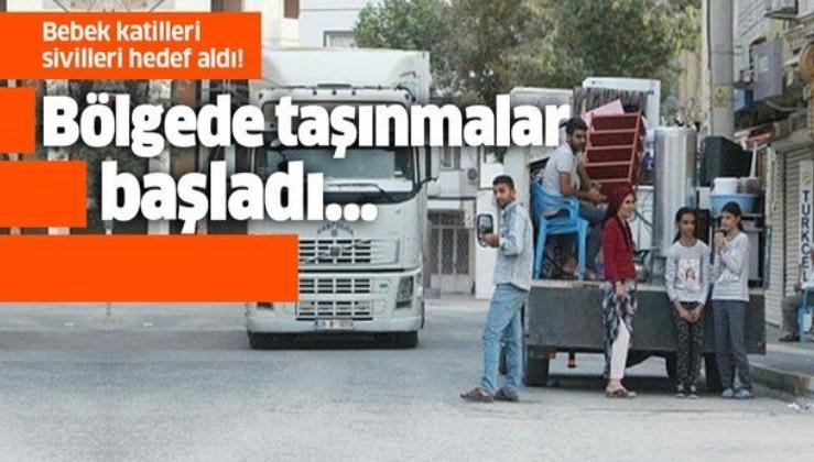 Bebek katili YPG sivilleri hedef aldı! Bölgede taşınmalar başladı!.