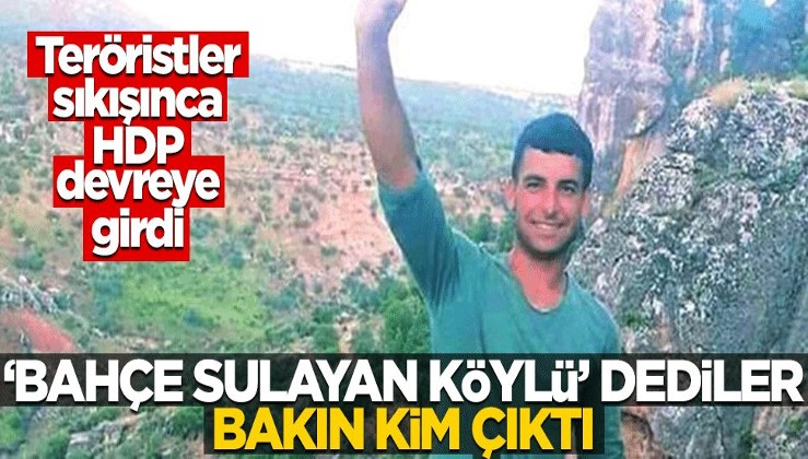 """PKK sıkışınca HDP devreye girdi! """"Bahçe sulayan köylü"""" dediler, bakın kim çıktı"""