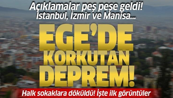 SON DEPREMLER   Manisa'da 5.5 büyüklüğünde deprem! İzmir, Aydın ve Muğla'da da hissedildi