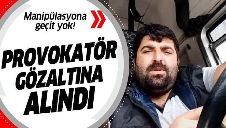 """""""Evde Kal"""" çağrısı üzerinden manipülasyon yapan provokatör TIR şoförü Hatay'da gözaltına alındı."""