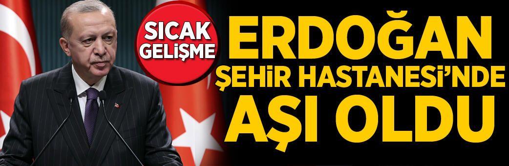 Son dakika... Cumhurbaşkanı Erdoğan koronavirüs aşısı oldu
