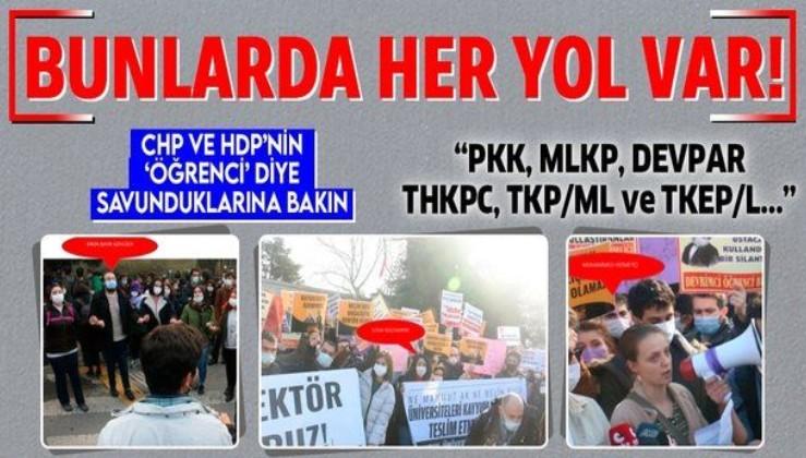 Boğaziçi Üniversitesi'nde gözaltına alınanlara bakın! Öğrenci değil terör destekçisi çıktılar