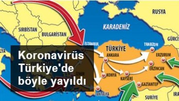Koronavirüs Türkiye'de böyle yayıldı