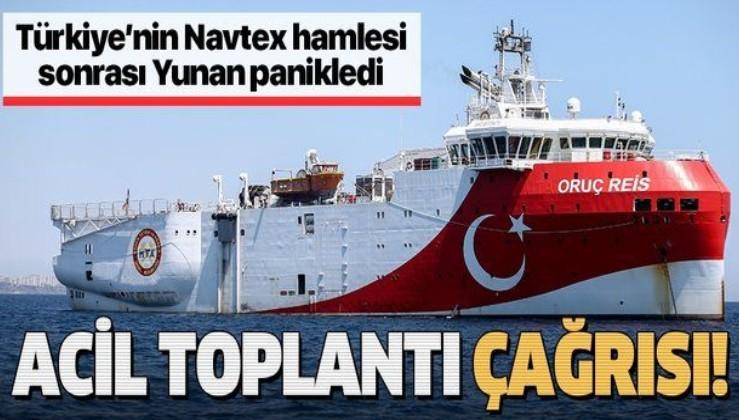 Son dakika: Türkiye NAVTEX ilanı sonrası Yunanistan panikledi: Ulusal Güvenlik Konseyi toplanıyor