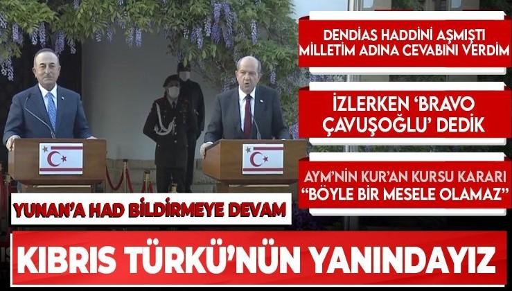 Son dakika: Dışişleri Bakanı Mevlüt Çavuşoğlu ve KKTC Cumhurbaşkanı Ersin Tatar'dan ortak açıklama