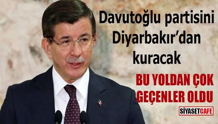 Davutoğlu Yeni Partiyi Diyarbakır'dan kuracak