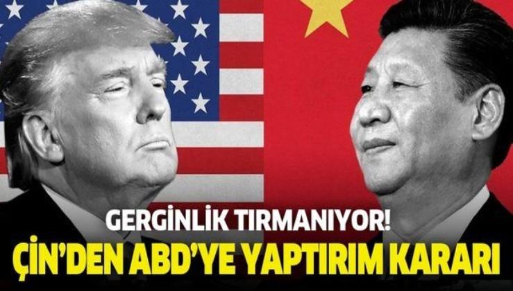 ABD ile Çin arasında gerilim tırmanıyor! Çin 11 ABD'liye yaptırım uyguladı