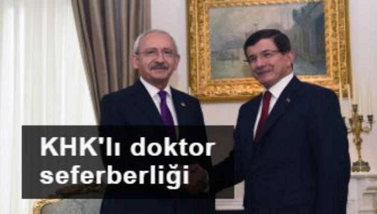 Kılıçdaroğlu ve Davutoğlu'ndan KHK'lı seferberliği
