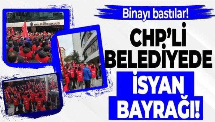 CHP'li Kartal Belediyesi'nde isyan! İşçiler belediye yönetimini protesto etti!