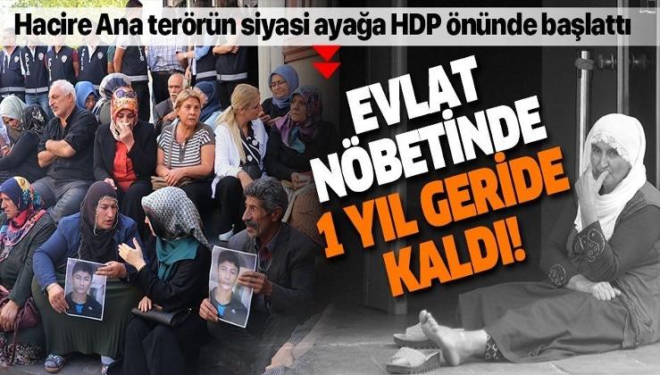 Diyarbakır'da yaşayan Hacire Akar'ın HDP önünde başlattığı evlat nöbetinde 1 yıl geride kaldı
