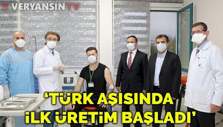 'Türk aşısında ilk üretim başladı'