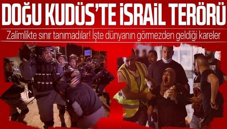 Kudüs'te İsrail terörü! Masumlara saldırdı zalimlikte sınır tanımadı