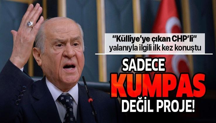 Bahçeli'den 'Külliye'ye çıkan CHP'li' iddialarına ilk yorum: Kumpastan ziyade proje.