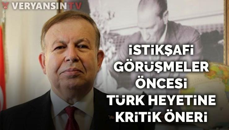 Cihat Yaycı'dan istikşafi görüşmeler öncesi Türk heyetine kritik öneri
