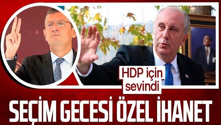 Özgür Özel'in, Muharrem İnce yüksek oy alınca üzüldüğü, HDP'nin ise barajı geçtiği için sevindiği ortaya çıktı