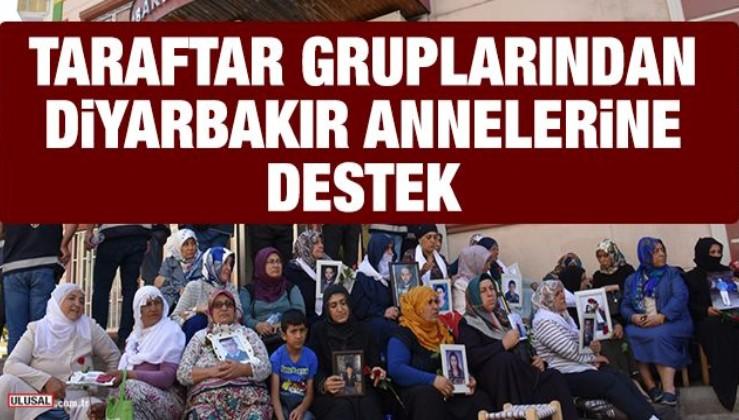 Taraftar gruplarından Diyarbakır annelerine destek