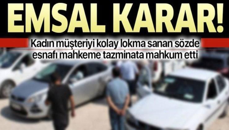 Mahkeme, sattığı otomobilin hasarını söylemeyen galericinin alıcıya tazminat ödemesine hükmetti