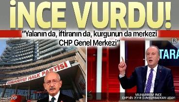 Muharrem İnce'den Kılıçdaroğlu'na sert sözler: Yalanın da, iftiranın da, kurgunun da merkezi CHP Genel Merkezi