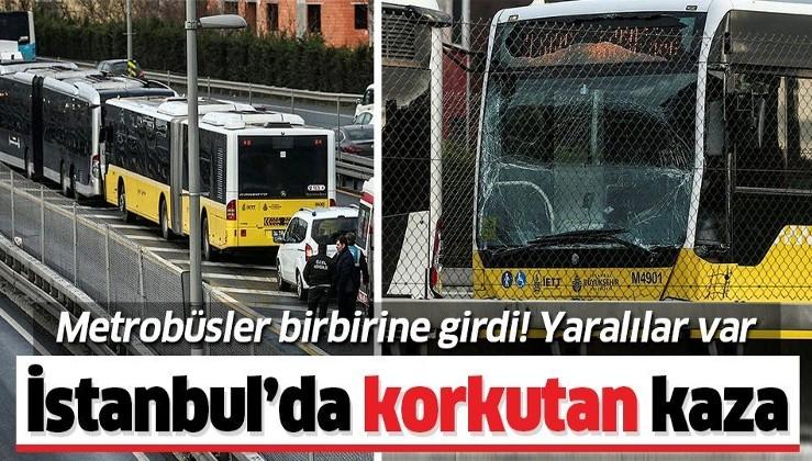 Son dakika: Okmeydanı'nda metrobüs kazası! Yaralılar var.
