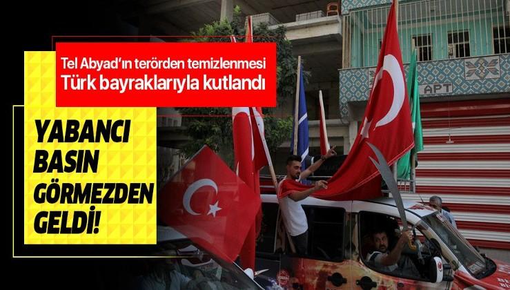 Tel Abyad'ın temizlenmesi Akçakale'de Türk bayraklı konvoylarla kutlandı!