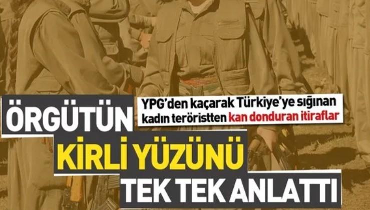Türkiye'ye sığınan kadın teröristten itiraf.