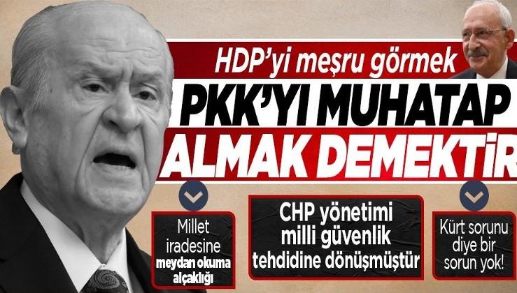 Bahçeli'den Kılıçdaroğlu'nun ''HDP meşru'' çıkışına yanıt: ''HDP terör örgütü PKK'nın mazbata almış maskeli halidir''