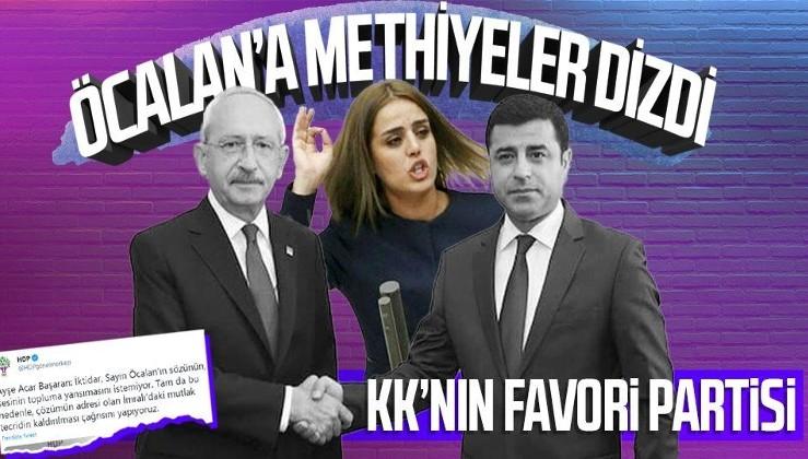 HDP'li Ayşe Acar Başaran PKK elebaşı Abdullah Öcalan'a methiyeler dizdi