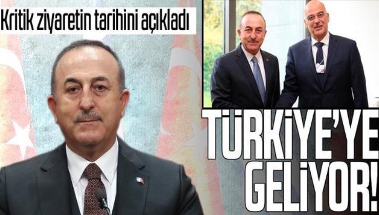 SON DAKİKA: Bakan Çavuşoğlu kritik ziyaretin tarihini açıkladı: Yunan mevkidaşı Dendias Türkiye'ye geliyor