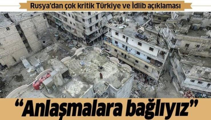 Son dakika: Rusya'dan flaş Türkiye ve İdlib açıklaması.