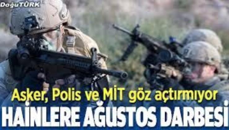 Son dakika: YPG/PKK'ya Ağustos'ta ağır darbe