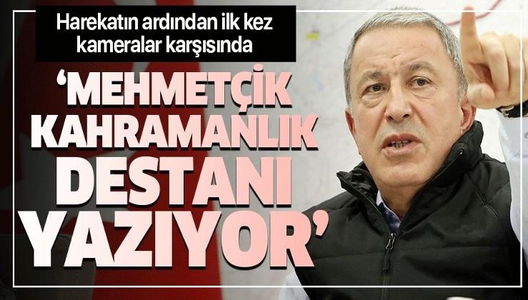 Son dakika: Bakan Akar'dan Barış Pınarı Harekatı açıklaması: Mehmetçik'in morali çok yüksek.