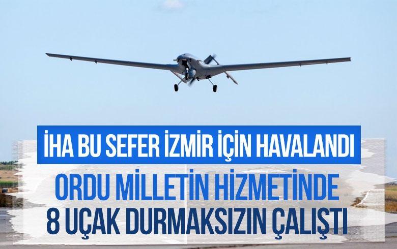 Milli Savunma Bakanlığı: 8 uçak sabaha kadar İzmir'e 14 sefer yaptı