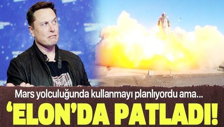 """Elon Musk'a ait SpaceX'in """"Starship SN8"""" adlı roket prototipi test sırasında patladı"""
