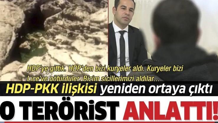 HDP-PKK'nın kirli ilişkisi bir kere daha gözler önünde! Teslim olan terörist her şeyi itiraf etti