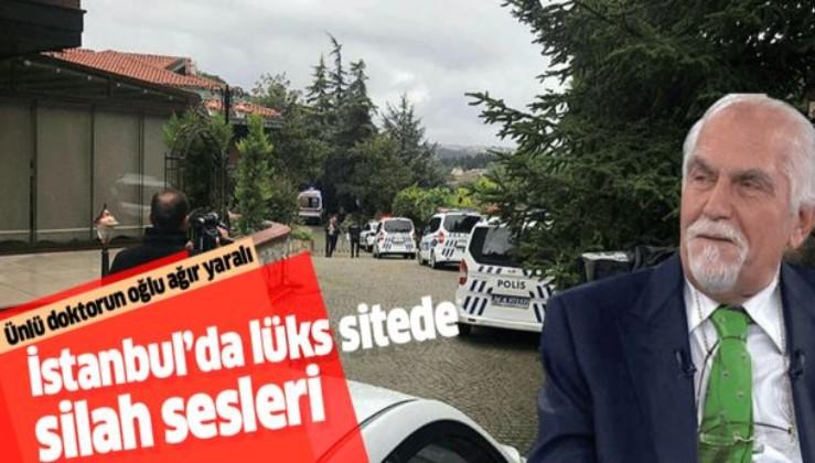 İstanbul'da lüks sitede dehşet! Ünlü doktor Erkan Topuz'un oğlu yaralandı.