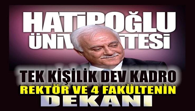 Nihat Hatipoğlu, rektörü olduğu üniversitede