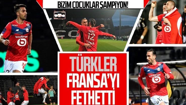 Milli futbolcularımız Burak Yılmaz, Yusuf Yazıcı ve Zeki Çelik'in forma giydiği Lille Fransa'da şampiyon oldu!