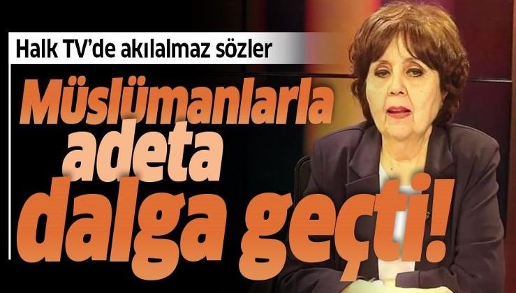 Sözde gazeteci Ayşenur Arslan Halk TV'de ahiret ve cennet inancıyla alay etti