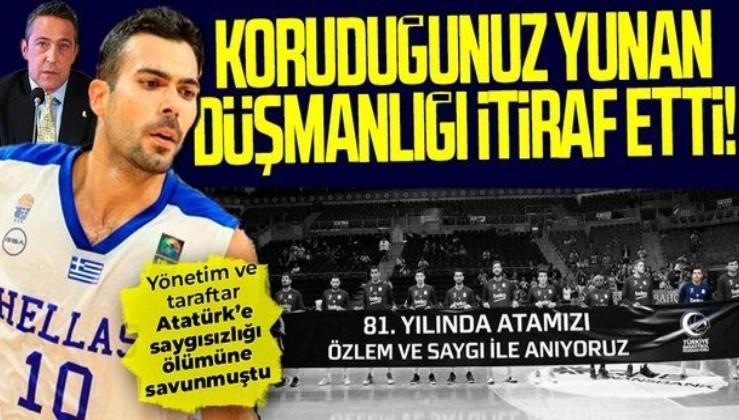 Fenerbahçeli eski basketbolcu Kostas Sloukas'tan Atatürk itirafı: 85 yıl sonra o pankartı taşıyamazdım