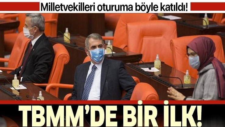 TBMM'de koronavirüs önlemi! Milletvekillerinin hepsi maske ve eldivenle geldi!