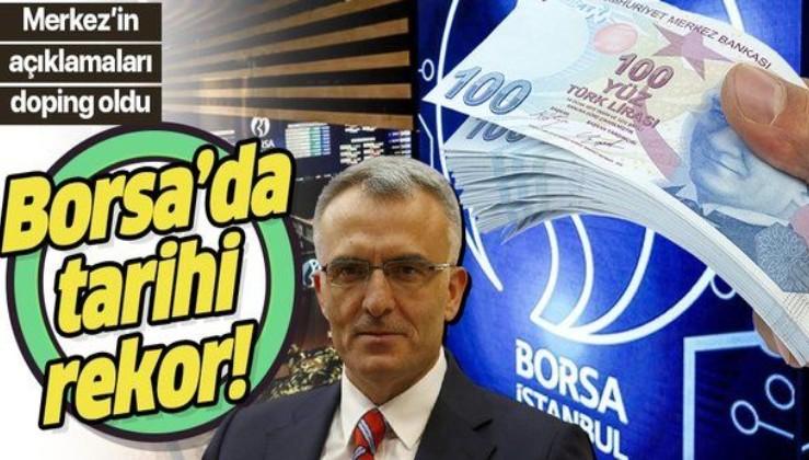 TCMB Başkanı Naci Ağbal'ın açıklamaları sonrası Borsa İstanbul'da tüm zamanların rekoru kırıldı