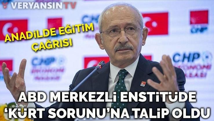 ABD merkezli kuruluşa konuşan Kılıçdaroğlu'ndan anadilde eğitim talebi
