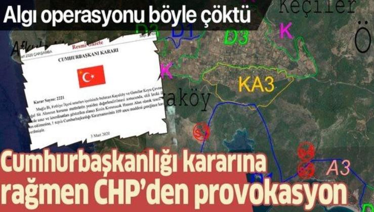 Cumhurbaşkanlığı kararına rağmen CHP'den Muğla Fethiye'de provokasyon