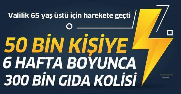 Son dakika: İstanbul Valisi Ali Yerlikaya: 65 yaş üstü 50 bin vatandaşa 6 hafta boyunca 300 bin gıda kolisi!.