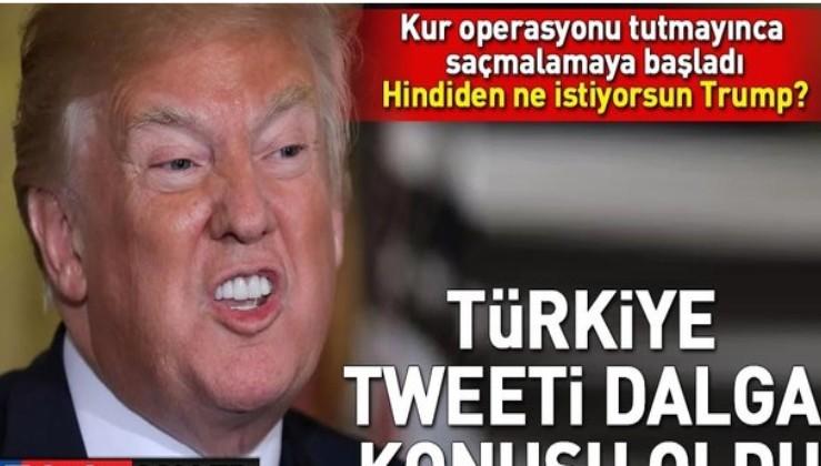 Trump'ın Türkiye tweeti alay konusu oldu.