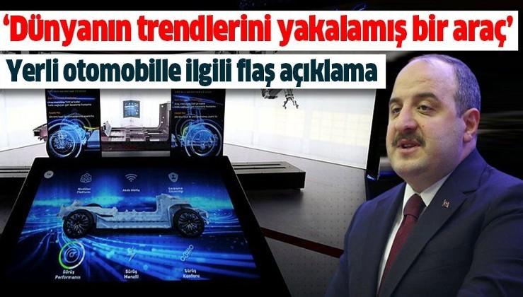 Bakan Mustafa Varank'tan yerli otomobille ilgili flaş açıklamalar.