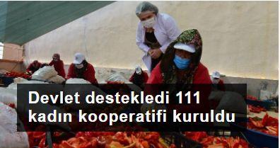111 kadın kooperatifi 26 bin kişiye eğitim
