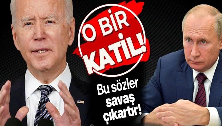 Bu sözler savaş çıkarır! ABD Başkanı Joe Biden'dan zehir zemberek sözler: Putin bir katil