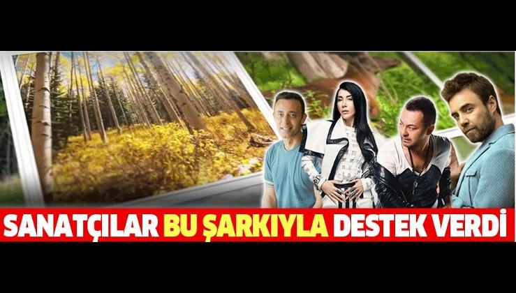 Mustafa Sandal, Serdar Ortaç, Hande Yener ve Murat Dalkılıç 11 milyon fidan klibinde buluştu